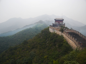 The Great Wall as the smog and mist lifts